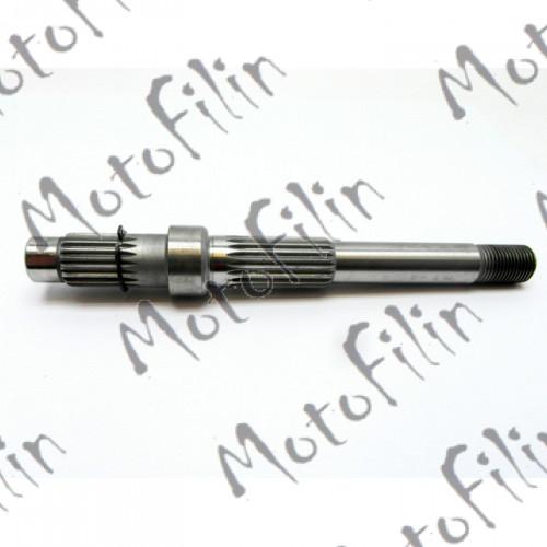 Вал редуктора ведомый 157QMJ 152QMI 195 мм (под два амортизатора)