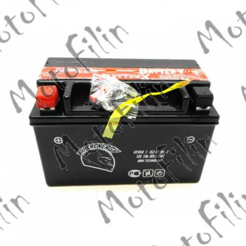 Аккумулятор. АКБ Hyper 7А -152х87х95-2 (Прямая) YTX7A-BS