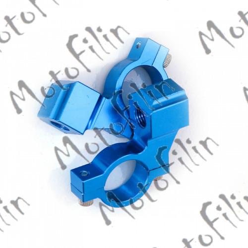 Крепеж-переходник на руль для зеркал 8мм синий (пара)