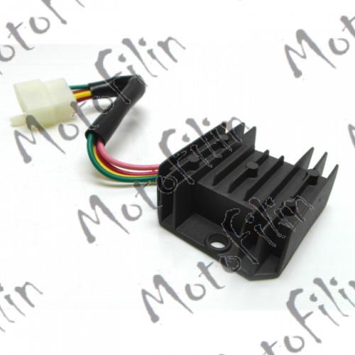 Реле регулятор  для установки на питбайки (4 контакта, 90Вт)