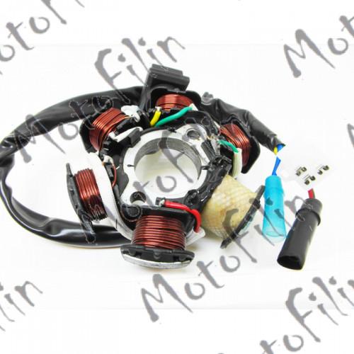 Статор и ротор генератора всборе 4Т 152QMI, 157 QMJ, ATV150. 6 катушек.