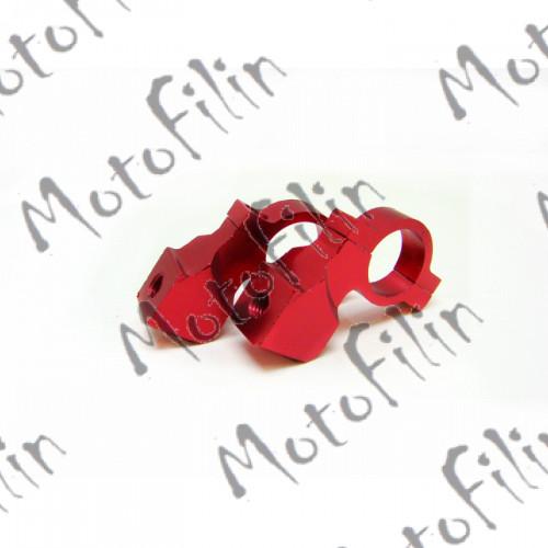 Крепеж-переходник на руль для зеркал 8мм красный (пара)