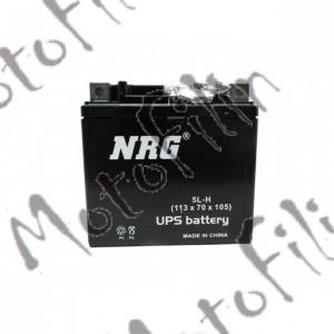 Аккумулятор АКБ NRG 5L-H 12В 5а/ч. 113х70х105