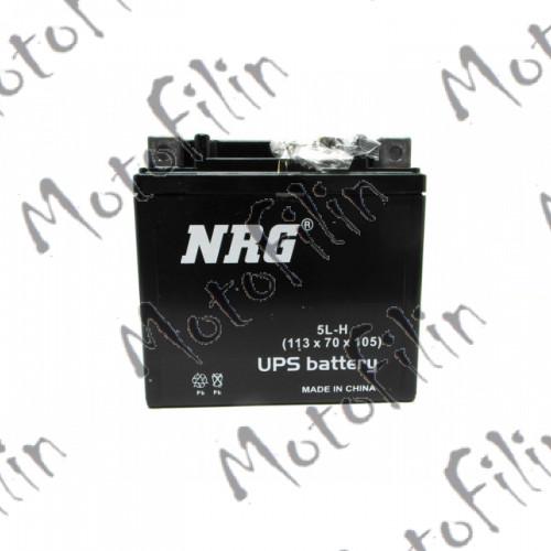 Аккумулятор АКБ NRG 5L-H 12В 5а/ч.