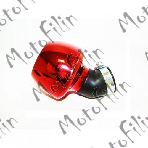 Фильтр нулевого сопротивления Т1 в пластике красный  (42мм) угловой