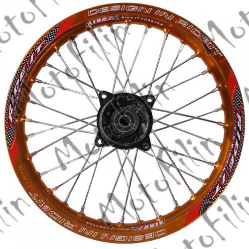 Диск колесный R17 передний алюминиевый оранжевый (1,85-R14 d=15mm) (1,60-R17 d=15mm)