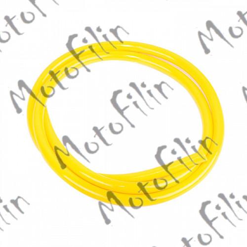Шланг бензиновый 4,5х8,5 силиконовый (желтый)