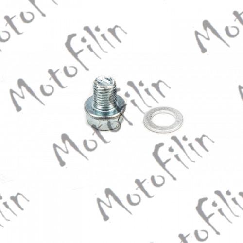 Болт картера пробка сливной+прокладка 139FMB,147FMH,152FMH 50-125см3