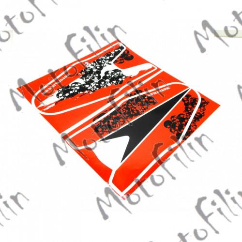 "Наклейки на удлинители крыльев ""invisible model1"". Рисунок Т015. Черепа."