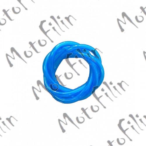 Бензошланг прозрачный синий 4х7мм (1м)